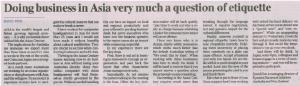 Kyocera, David Finn, Weekend Australian 12 04 2014